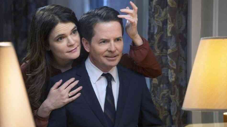 Betsy Brandt and Michael J. Fox star in NBC's The Michael J. Fox Show, coming this fall.