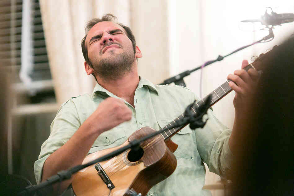 Jorge Glem, the four-string guitar player, has won first place in more than one cuatro festival and competition events in his home country of Venezuela.