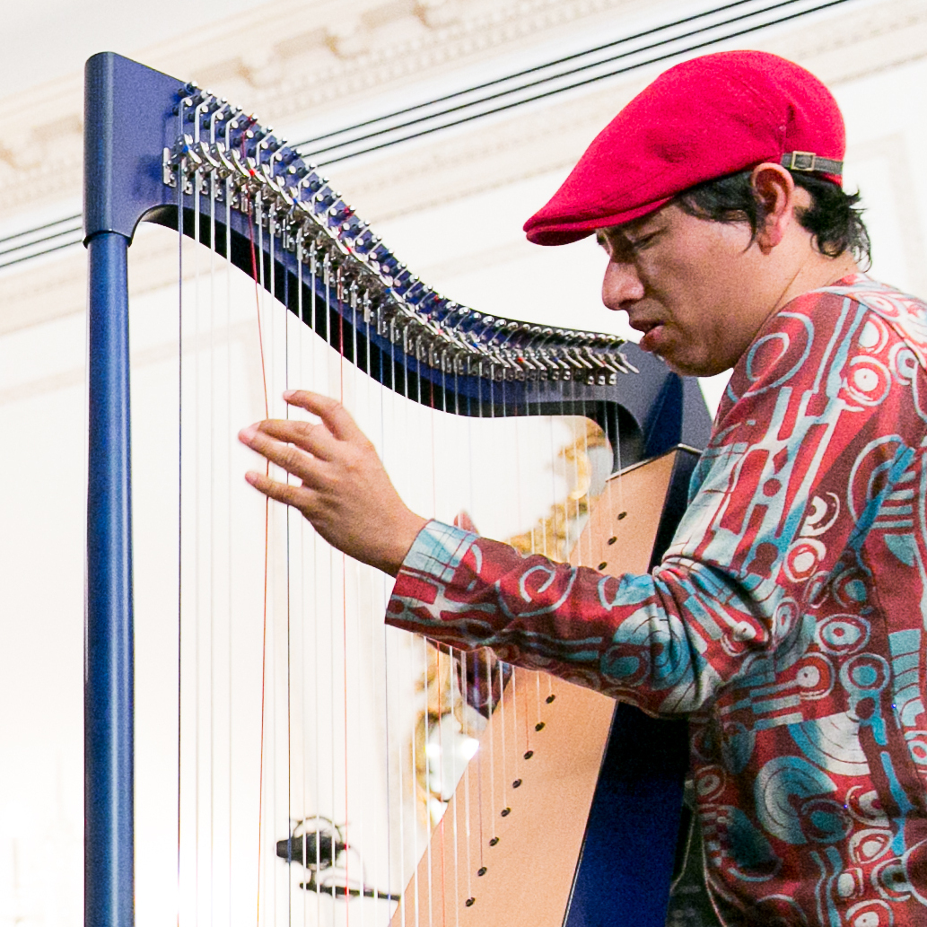 Edmar Castañeda performs at the Americas Society.