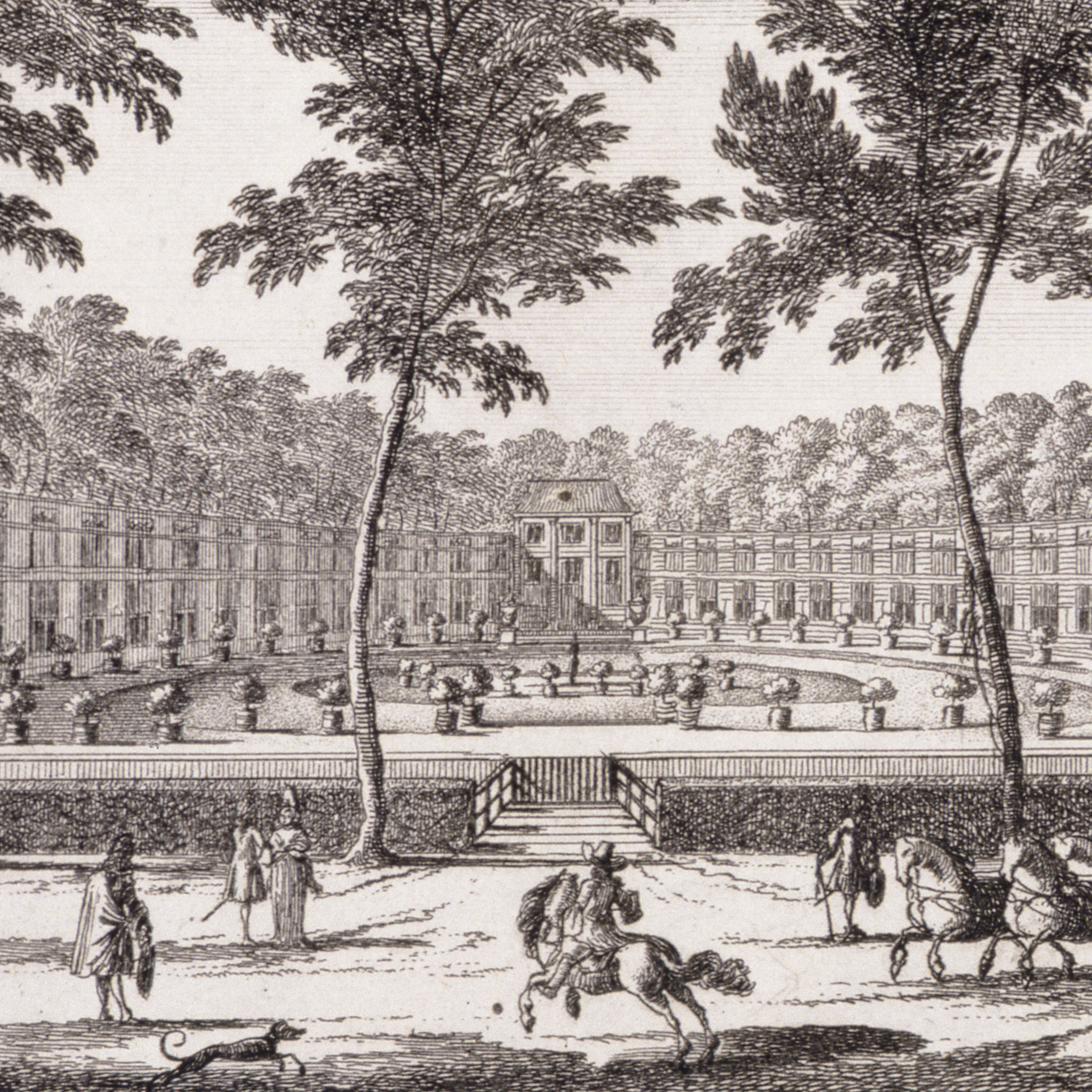The Orangery at Sorvgliet, from 'Admirandorum Quadruplex Spectaculum', by Jan van Call