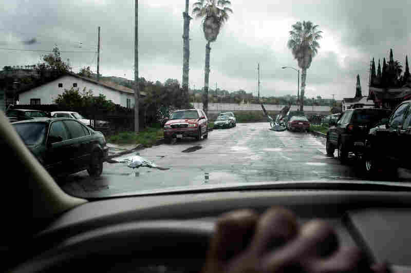 """A Cambodian neighborhood adjacent to the """"Ditch,"""" a focal point of gang violence, in Long Beach, Calif."""