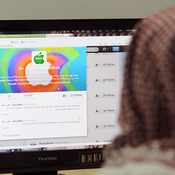 In January, this Saudi man in Riyadh had Twitter open on his computer.