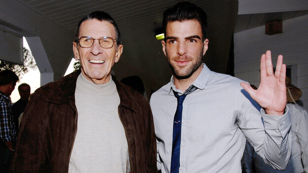 Leonard Nimoy (left) originated the role of Spock on Star Trek. Zachary Quinto (right) plays the character in the franchise's reboot.