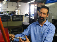 Ira Leifer, at his garage-turned-lab in Santa Barbara, has been studying the levels of methane in the atmosphere.
