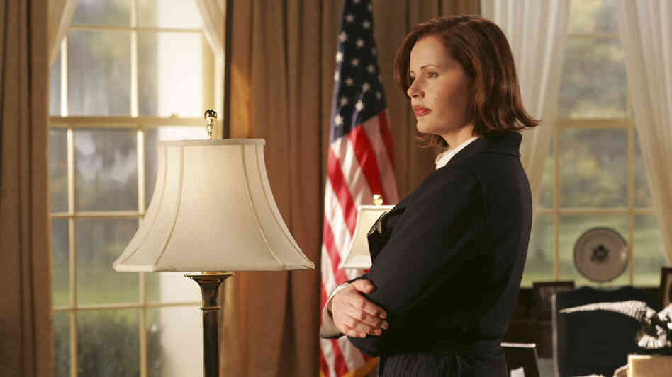 Geena Davis played the president in the 2005 ABC series Commander in Chief. Now, she works on issues involving women in media.