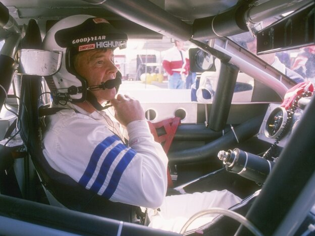 Dick Trickle at the start of a NASCAR race in 1993.