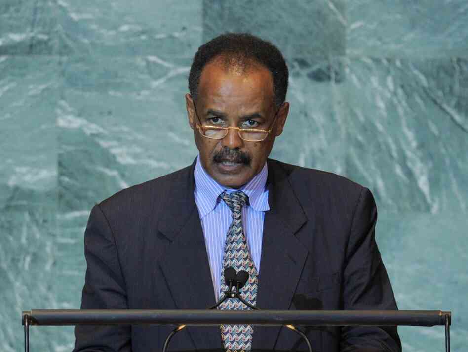 Eritrea's human rights record has been widely criticized under President Isaias Afwerki, shown here speaking at the United Nations General Assembly on Sept. 23, 2011.