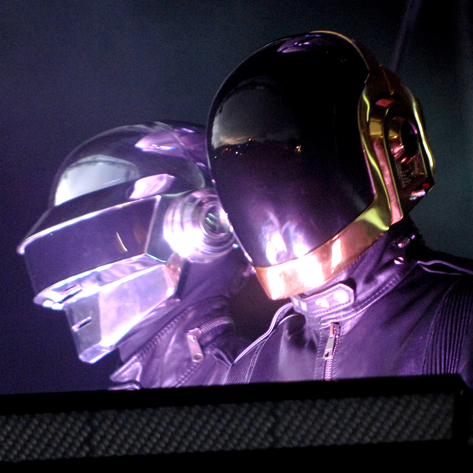 In spite of the robotic persona they've cultivated for years, Thomas Bangalter and Guy-Manuel de Homem-Christo elected to make the latest Daft Punk album in a real studio, with real musicians. Here the duo performs in Leeds in 2007.