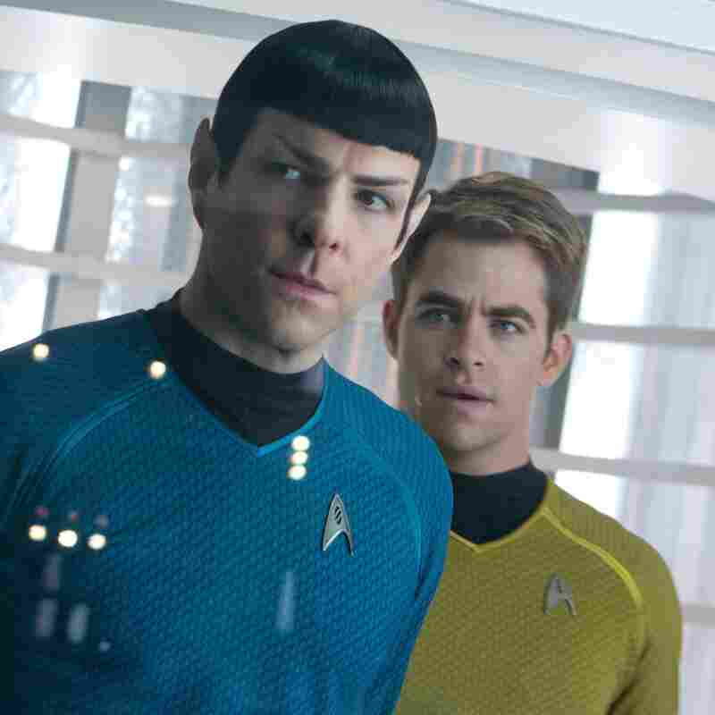 Quinto (left) as Spock, with Chris Pine as Kirk, in Star Trek: Into Darkness.