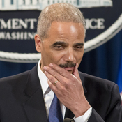 Attorney General Eric Holder pauses during a May 14 news conference on the IRS.