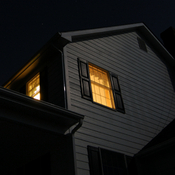 upstairs window light