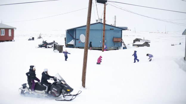 """The 350 residents of Newtok, Alaska, will soon be the country's first """"climate refugees."""" The U.S. Army Corps of Engineers says the village is likely to be underwater in just four years. (The Guardian)"""