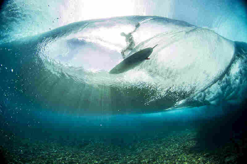 A recent view from beneath the Teahupoo break.
