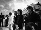 Ray Manzarek (far right) stands with fellow members of The Doors Jim Morrison (from right), Robby Krieger and John Densmore in 1968. Manzarek died Monday in Germany. He was 74.
