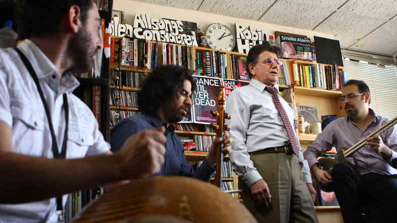 M R Shajarian performs a Tiny Desk Concert in March 2013.
