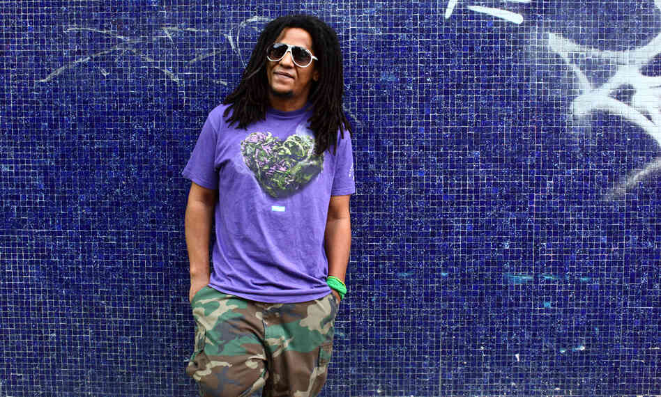 Gifted Puerto Rican rapper Tego Calderon is seen outside his studio, El Sitio, in Santurce, San Juan, Puerto Rico.