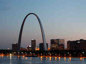 """The Gateway Arch """"is really a monument to the 20th century and to the height of American power,"""" says historian Tracy Campbell."""