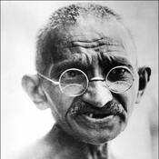 A picture of Gandhi taken on  July 24, 1931 in New Delhi.