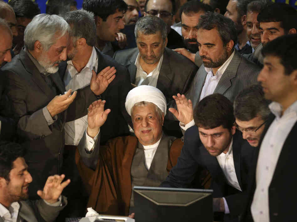 Former Iranian President Akbar Hashemi Rafsanjani's candidacy for the country's presidency was rejected Tuesday by the powerful Guardian Council. He's seen here on May 11 r