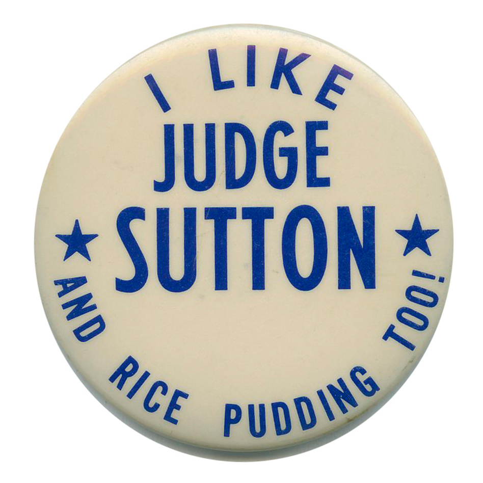 At last, the longstanding Judge Sutton/Rice Pudding mystery is solved. (Ken Rudin collection)