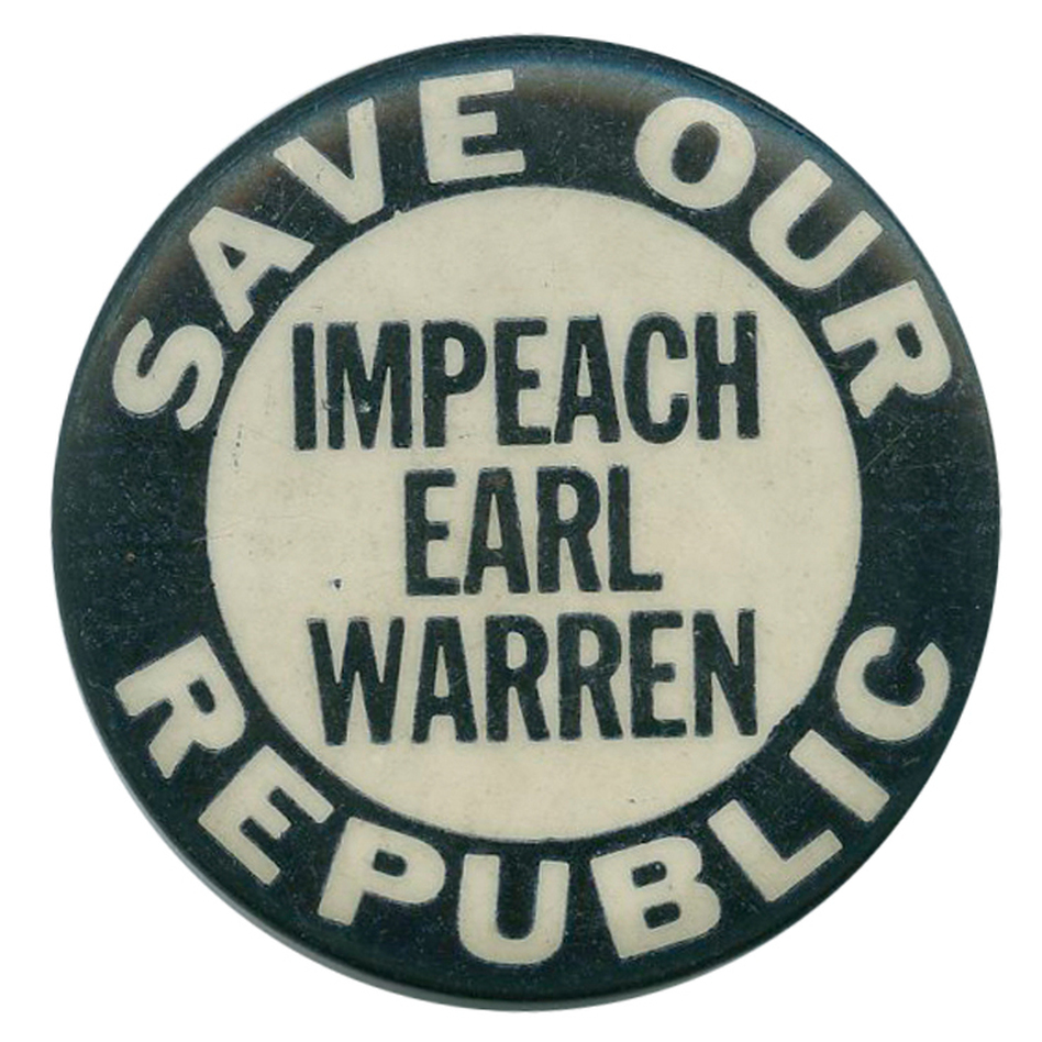 I couldn't find any Warren Earl Burger buttons, so I did the next best thing. (Ken Rudin collection)