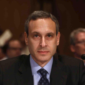 Former IRS Commissioner Douglas Shulman testifies Tuesday on Capitol Hill, before a Senate Finance Committee hearing.