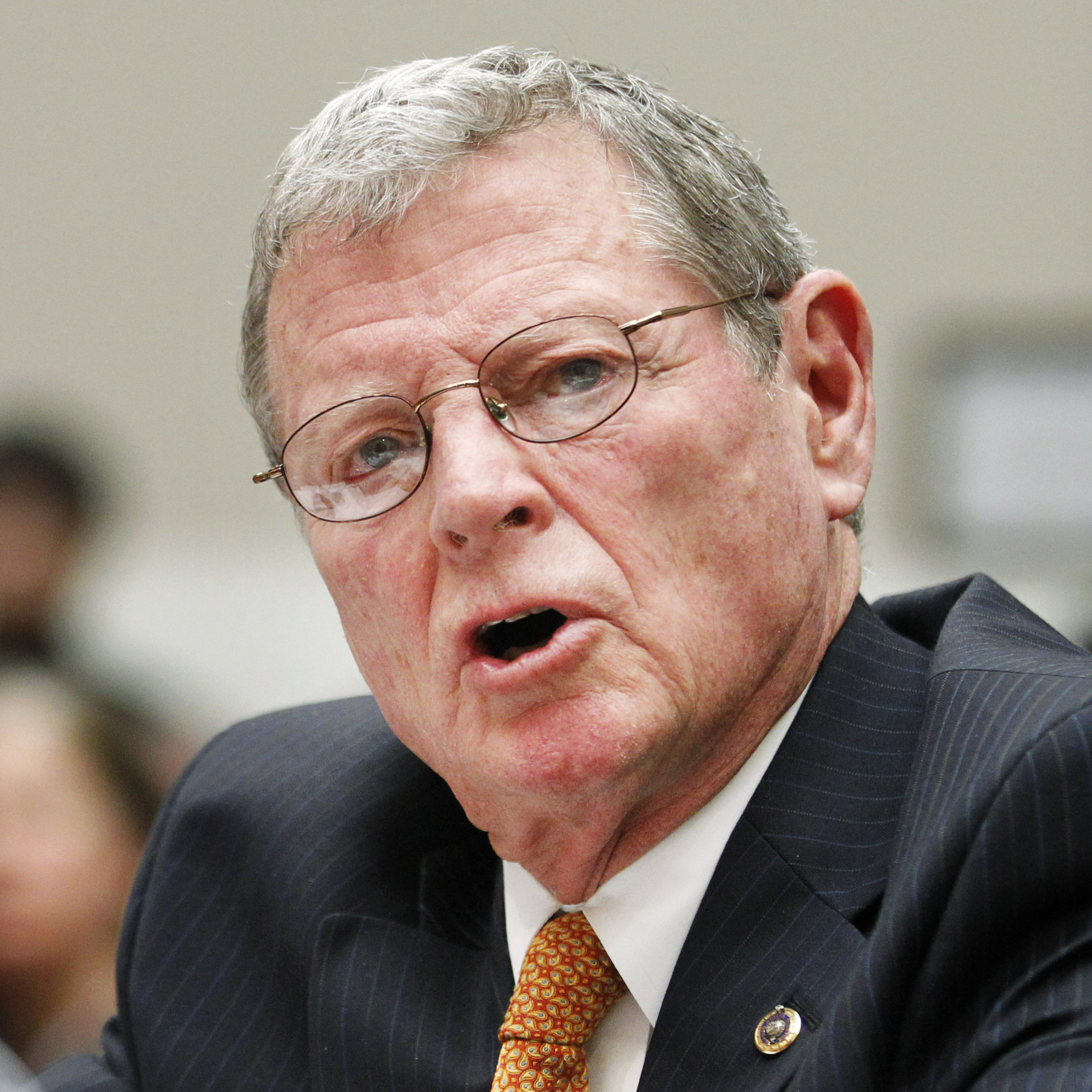 Sen. James Inhofe, R-Okla., testifies on Capitol Hill in Washington in 2011.