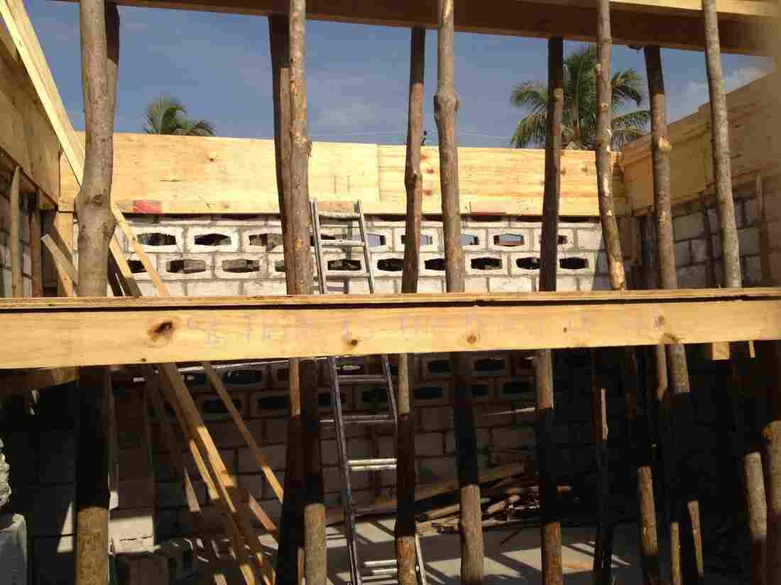The new school building in Villard, Haiti.