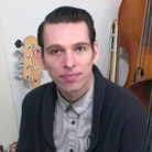 Jherek Bischoff in his home studio.
