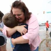 When Trenda Purcell found her son Kamden, her joy — and tears — erupted.