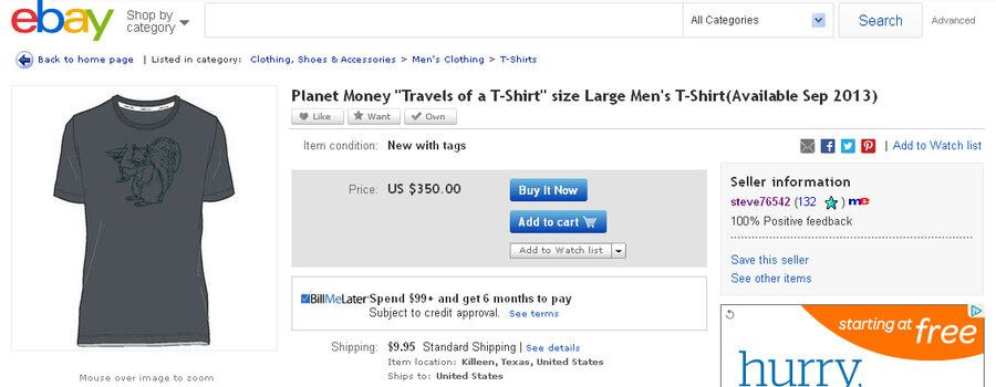 Somebody is scalping a planet money t shirt for 350 planet money planet money t shirt gumiabroncs Image collections