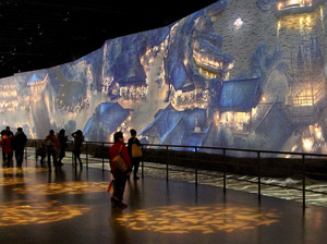 One of the highlights of the new China Art Palace in Shanghai is a giant digital rendering of a famous ancient scroll,