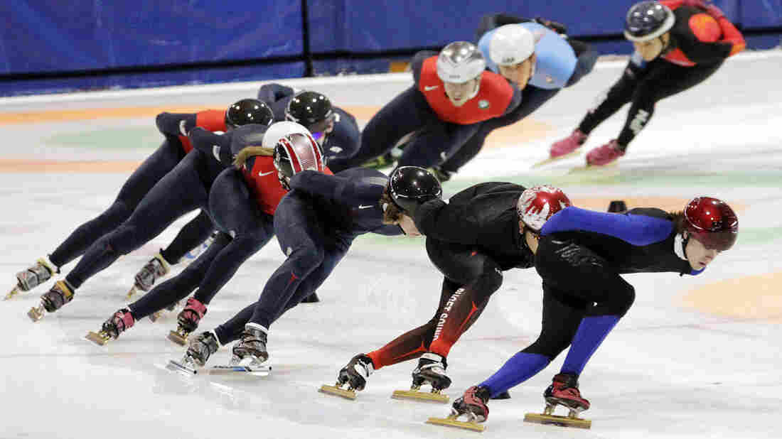 Speedskaters practiced for the U.S. Single Distance Short Track Speedskating Championships in Kearns, Utah, last year.