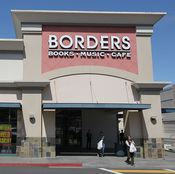 Customers walk out of a Borders Bookstore on July 22, 2011 in San Francisco, Calif., as the chain began liquidating.