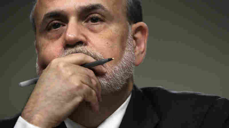Federal Reserve Chairman Ben Bernanke during his Capitol Hill testimony Wednesday before the Joint Economic Committee.