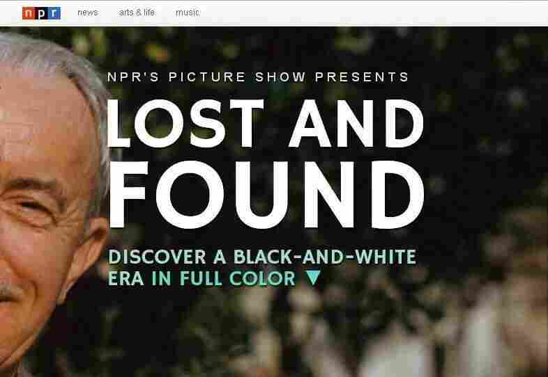 """The opening image in NPR's """"Lost and Found"""" documentary."""