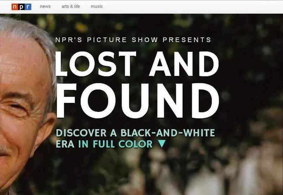 "The opening image in NPR's ""Lost and Found"" documentary."
