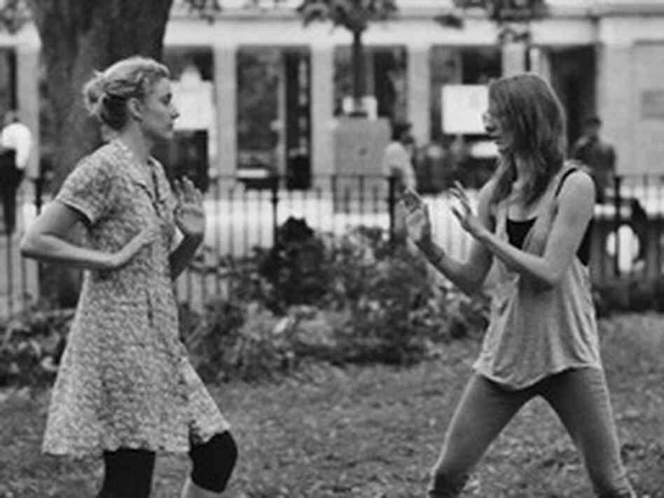 In Frances Ha, the title character (Greta Gerwig, left) and her best friend, Sophie (Mickey Summer), struggle to find the footing of their friendship post-college.