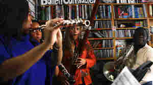 Imani Winds performs a Tiny Desk Concert in February 2013.