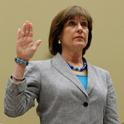 Internal Revenue Service Director of Exempt Organizations Lois Lerner as she was sworn in at a hearing held Wednesday by the House Committee On Oversight & Government Reform.