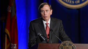 Former CIA director and retired Gen. David Petraeus helped shape the first draft of