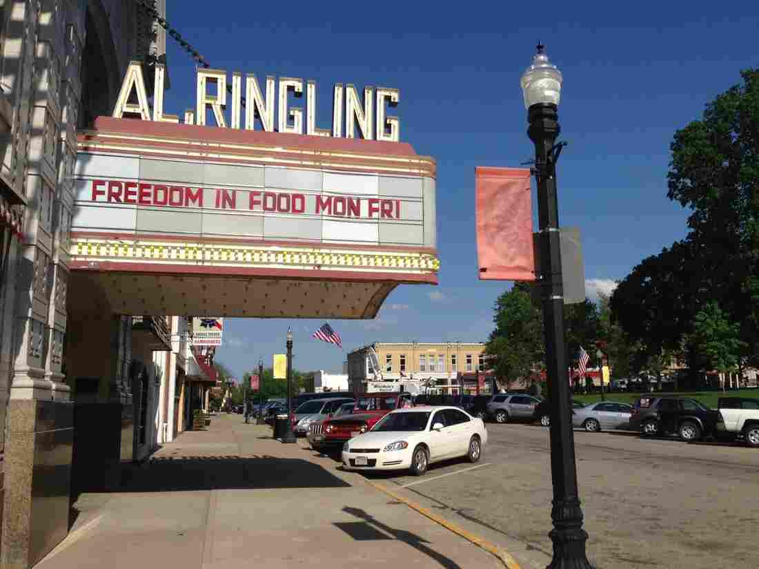 Activists supporting Hershberger have set up camp across the street from the Sauk County courthouse, in the Al Ringling Theatre.