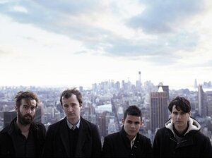 Vampire Weekend (left to right: Chris Tomson, Chris Baio, Rostam Batmanglij, Ezra Koenig) met while they were all students at Columbia University.