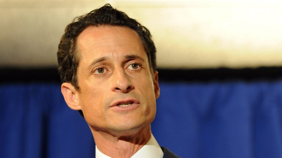 Former Rep. Anthony Weiner, D-N.Y., in June 2011 — at the height of the sexting scandal that led to his resignation from Congress. (EPA /Landov)