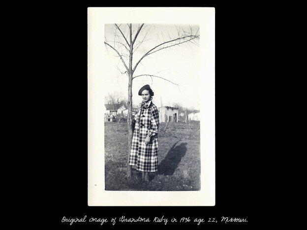 The original photograph of Holler's grandmother Ruby