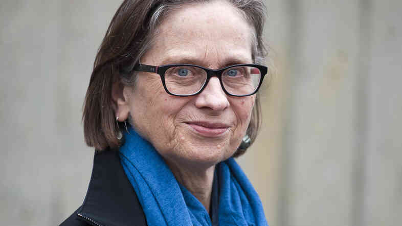 Lydia Davis poses during a photocall in May for the finalists of the 2013 Man Booker International literary prize in London.