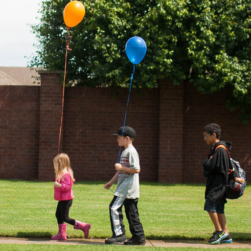 Students and teachers from the Eastlake and Plaza Towers Elementary schools gathered at Eastlake on Thursday to say goodbye for the summer. It was a chance to reconnect after a devastating tornado brought an abrupt end to the school year at Plaza Towers, in Moore, Okla.