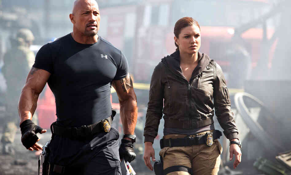 Hot Pursuits: Agents Hobbs and Riley (Dwayne Johnson and Gina Carano) enlist Dom and his gear head crew to combat a something something terrorist something skidding explosions muscles.
