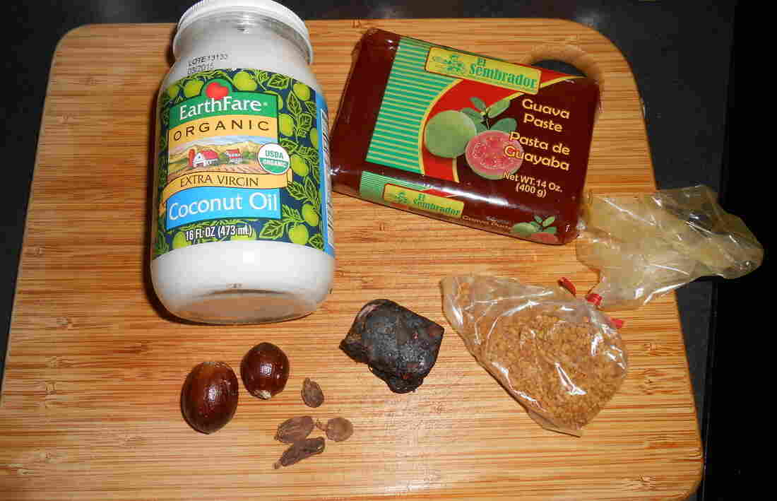 Harrison Gowdy of Dayton, Ohio, has accumulated various Indian spices, guava paste and coconut oil — among other things.
