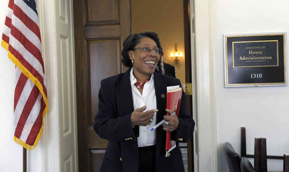 Rep. Marcia Fudge, D-Ohio, chair of the Congressional Black Caucus, says her group fears an immigration overhaul that greatly expands high-tech visas could have an adverse impact on blacks aspiring to such jobs.